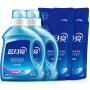 【限量秒杀】蓝月亮 洗衣液 深层洁净组合装4KG(1kg瓶*2+500g袋*4)