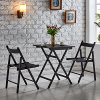 阳台桌椅铁艺折叠户外休闲桌椅组合奶茶店咖啡厅甜品店三件套