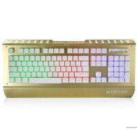 炫光 X25金属机械手感有线游戏键盘USB 电竞网咖网吧CF LOL发光 背光电脑用健盘19键无冲突 可搭配鼠标套装