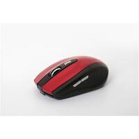 七夕礼物 无线鼠标可充电式笔记本电脑鼠标女生静音适用于小米华硕联想三星hp戴尔 枫叶红