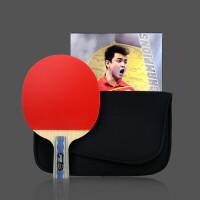 乒乓球拍 六星狂飙王6006兵乓球拍ppq底板成品横拍直拍