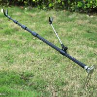 钓鱼炮台支架加粗地插鱼竿支架钓竿架渔具垂钓 黑色