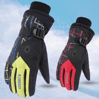 滑雪手套男女秋冬季情侣骑车摩托车防水加厚防寒学生保暖骑行手套