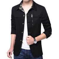 秋季男士小西装修身外套韩版休闲小西服冬季男装外套加绒加厚风衣 3358黑色 3358黑色