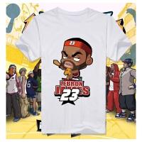 卡通科比詹姆斯 球星男女纯棉短袖T恤篮球运动t恤球衣球服