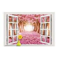 仿真创意立体墙贴贴画客厅卧室床头墙壁装饰贴纸假窗户风景画 大