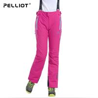 法国PELLIOT/伯希和 滑雪裤女 户外防风保暖防水透气专业登山裤