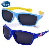 迪士尼儿童太阳镜男童偏光宝宝眼镜学生防紫外线蛤蟆镜男孩墨镜