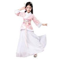儿童古装长袖戏服仙女汉服舞蹈演出表演服装古代