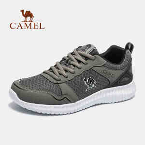 camel骆驼运动跑鞋男士休闲网布透气跑步鞋减震轻便运动鞋
