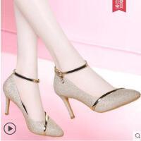 高跟鞋细跟少女户外新品韩版百搭单鞋公主配仙女裙的鞋子女鞋
