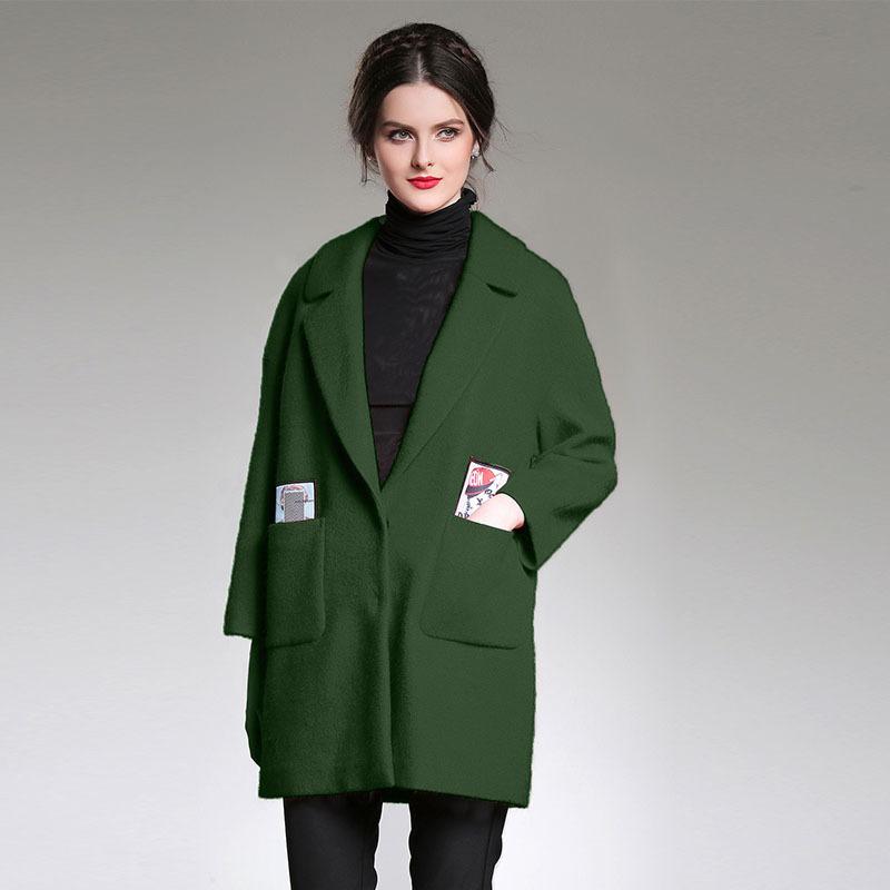 欧美女装秋冬新款宽松大码红色毛呢大衣女07 一般在付款后3-90天左右发货,具体发货时间请以与客服协商的时间为准