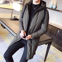 2017年羽绒服男韩版修身轻薄白鸭绒连帽男士外套男青年潮男中长款