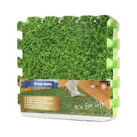 绿草坪覆膜泡沫拼接地垫客厅卧室PE地板垫子60*60*1cm 4片