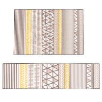 北欧风客厅地毯 现代简约沙发茶几垫 卧室铺满房间防滑毯 黄色 冰岛的夏天