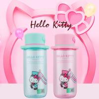 迪士尼 新品Hello Kitty帽子杯提绳手提杯水瓶便携塑料杯子儿童水杯