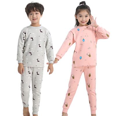 童装儿童保暖内衣套装冬季男童女童秋衣秋裤中领家居服