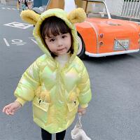 女宝宝冬装棉衣外套女童棉袄短款婴儿童亮面羽绒