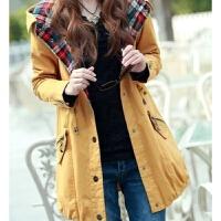 20秋冬新款韩版中长款薄款修身百搭学院风工装风衣外套女学生潮