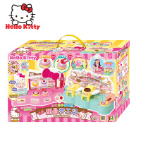 hellokitty女孩玩具屋子甜品梦工厂儿童做蛋糕情景屋城堡