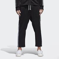 Adidas阿迪达斯 三叶草 男子 运动裤 经典条纹九分裤 BQ1903
