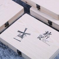复古巴黎铁塔木盒盒装同学录韩版创意活页毕业留言纪念册回忆册