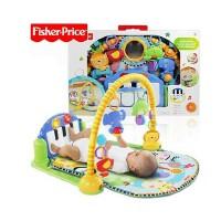 费雪玩具W2621健身架 婴幼儿P5331爬行垫 脚踏钢琴健身器