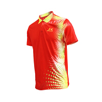 HEALTH海尔斯 PW3001 吸湿排汗翻领短袖衫 男女款乒乓球比赛运动服 运动POLO衫