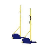 标准排球柱比赛 排球架 室外羽毛球网架 移动式 气排球两用网架 便携式标准比赛羽毛球网HW