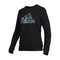 【店庆开门红低至3折】Adidas/阿迪达斯女装 2018新款女子CREW BIG BOS运动休闲短袖T恤 DT238