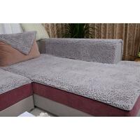 四季加厚毛毛虫雪尼尔沙发垫定做欧式布艺真皮防滑坐垫榻榻米垫子