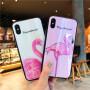 免邮 苹果X手机壳iPhone8/7炫光玻璃保护套6s plus防摔保护壳送钢化膜