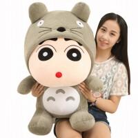 蜡笔熊猫龙猫小新毛绒玩具熊女孩布娃娃搞怪萌玩偶韩国送女友