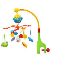 玩具新生婴儿床铃摇铃音乐旋转床头铃哄睡宝宝床绕床挂件玩具儿童0-3-6-12个月 绿色