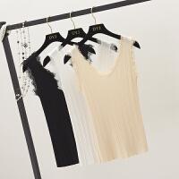 蕾丝吊带背心女夏季新款港味复古内搭小清新外穿无袖性感上衣