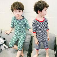儿童睡衣男孩7男童5宝宝家居服套装43小童1-6岁2纯棉