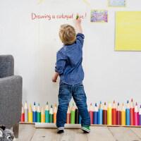 创意壁画 可移除创意墙贴纸客厅电视墙卧室浪漫儿童创意家装饰品 艺术彩笔 中