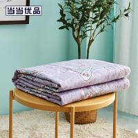 当当优品夏凉被 新疆棉花可水洗空调被 150*200cm 花尾鸢(灰)