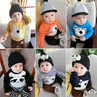 女婴儿衣服秋装0岁1男宝宝毛衣针织衫秋冬装打底衫