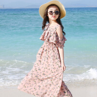 女童连衣裙2018新款夏装儿童装韩版裙子中大童雪纺长裙洋气公主裙