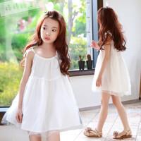 2018夏季童装韩版女童吊带连衣裙儿童海边度假沙滩裙纯棉公主裙子