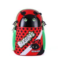 raskullz莱斯狐 3D卡通小学生书包 可爱红色甲虫双肩背包 幼儿园儿童双肩书包