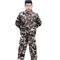 劳保迷彩服套装 耐磨帆布迷彩服 大中学生军训服 户外运动拓展服