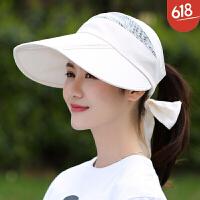 帽子女夏季遮阳帽透气可折叠户外大沿太阳帽时尚防晒帽潮 可调节