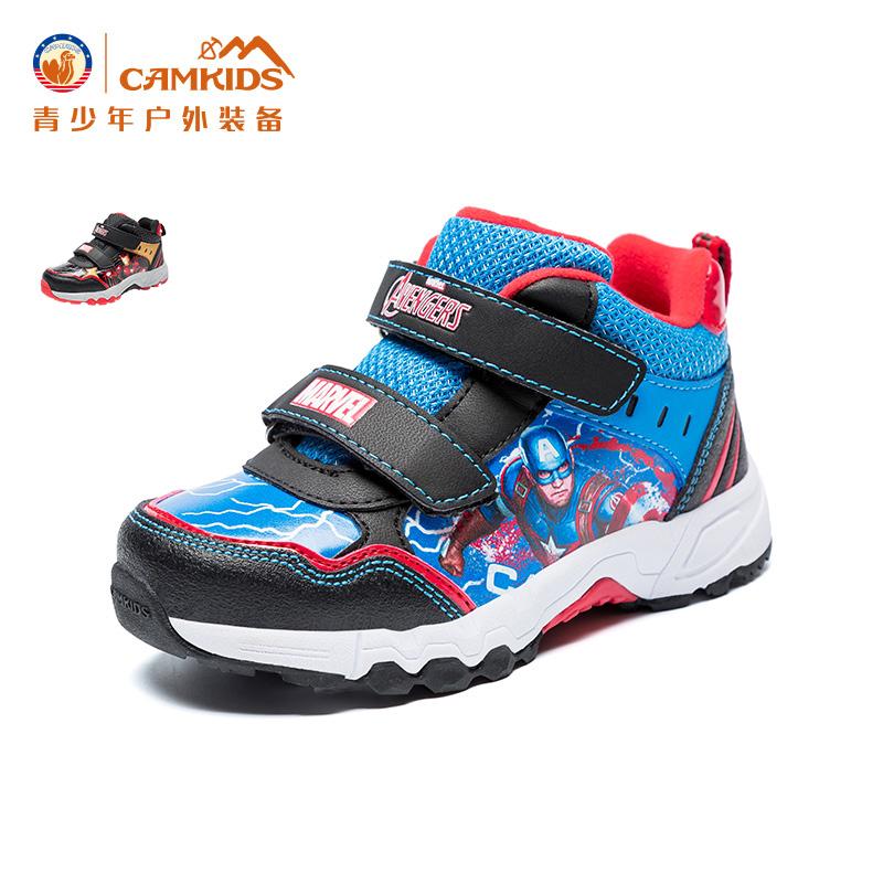 【专区满100减50元】CAMKIDS儿童鞋 保暖登山鞋男女童中小童户外运动鞋2017冬款