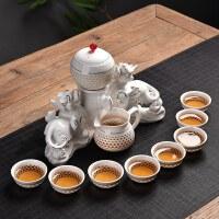 半全自动出水陶瓷茶具套装玲珑镂空盖碗茶杯懒人功夫冲泡茶器送父亲送朋友