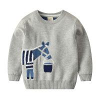 宝宝卡通毛衣秋装新款双层童装儿童套头针织衫