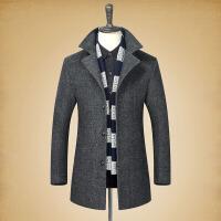 毛呢大衣男中长款韩版青年修身帅气加厚冬季羊毛呢子冬天男士外套