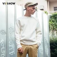 VIISHOW2017秋装新款针织衫男圆领宽松男士毛衣潮情侣韩版外套