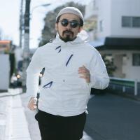 20180228011932420日系上衣连帽套头卫衣男休闲韩版运动男士冲锋衣外套潮